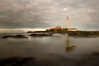 St. Mary's Lighthouse on a Dark Day  taken by Bob Riach