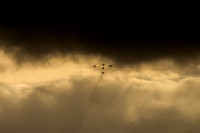 Red Arrows in the Clouds  © Bob Riach